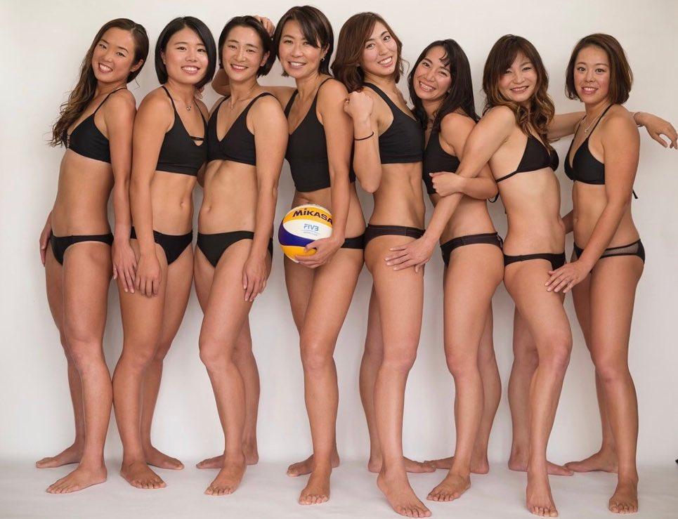 圧巻!ビーチバレー選手の集合写真【鈴木千代さん/2020年12月17日】